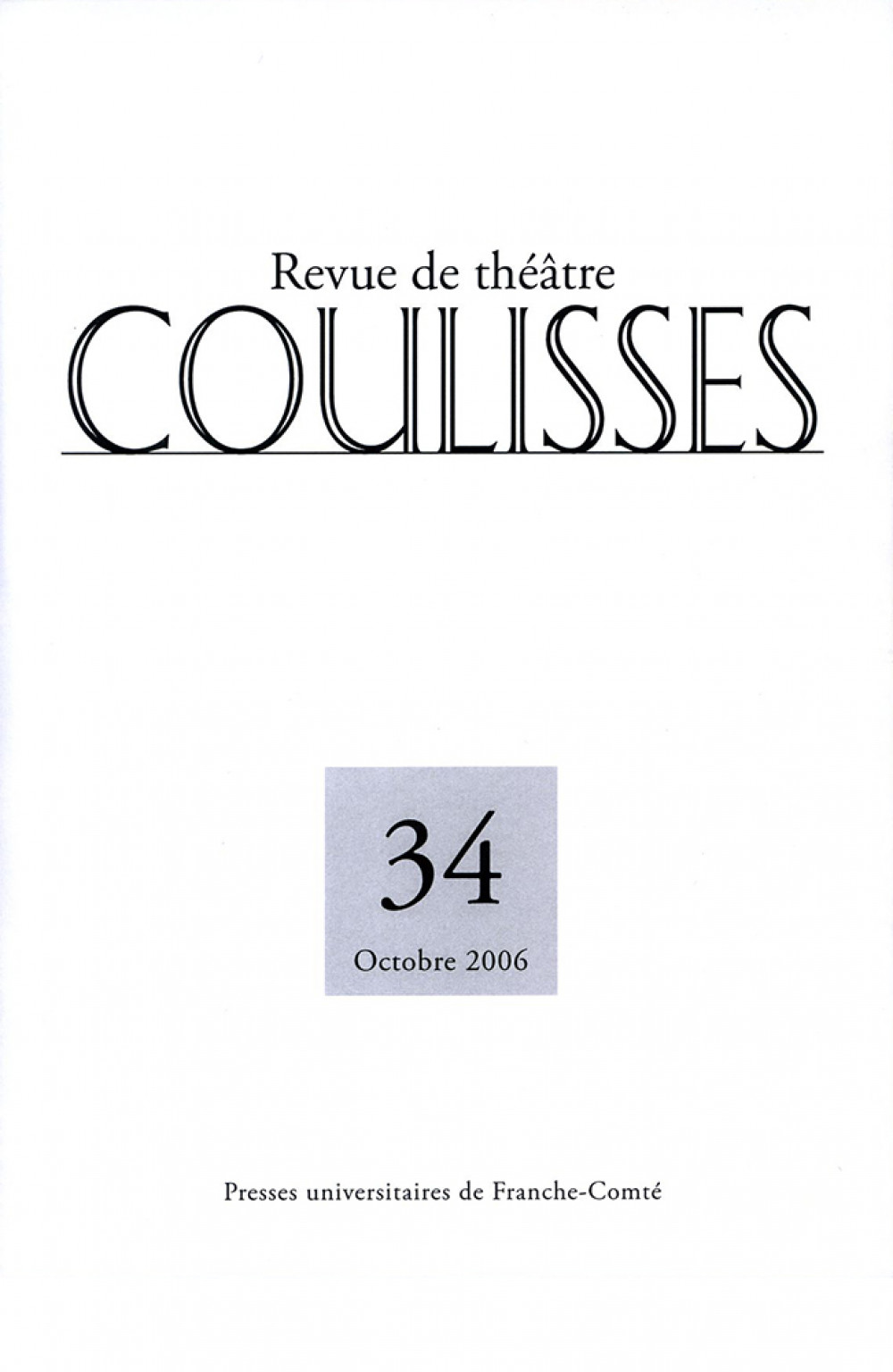 Coulisses 34