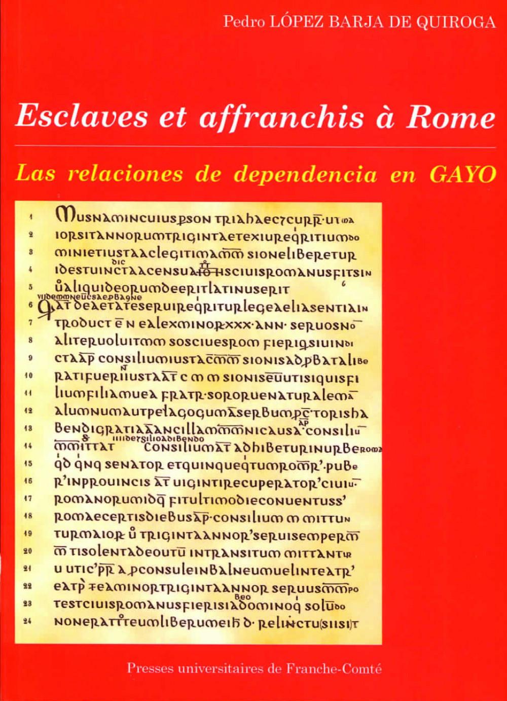 Esclaves et affranchis à Rome