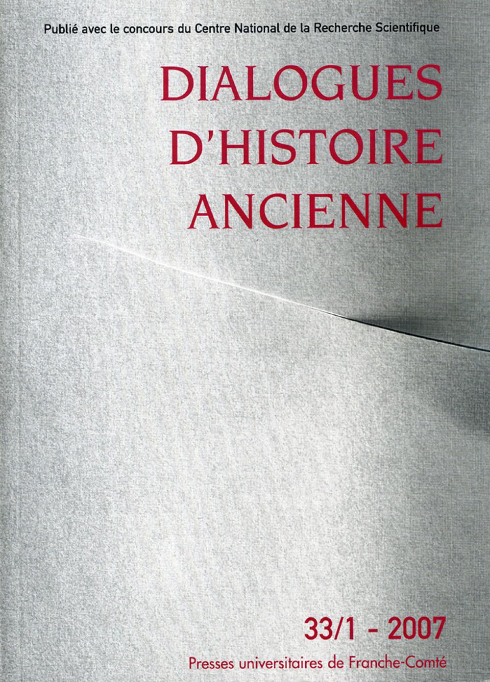 Dialogues d'Histoire Ancienne 33/1
