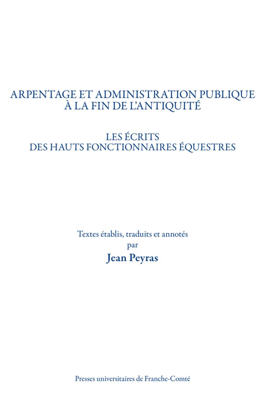 Arpentage et administration publique à la fin de l'Antiquité