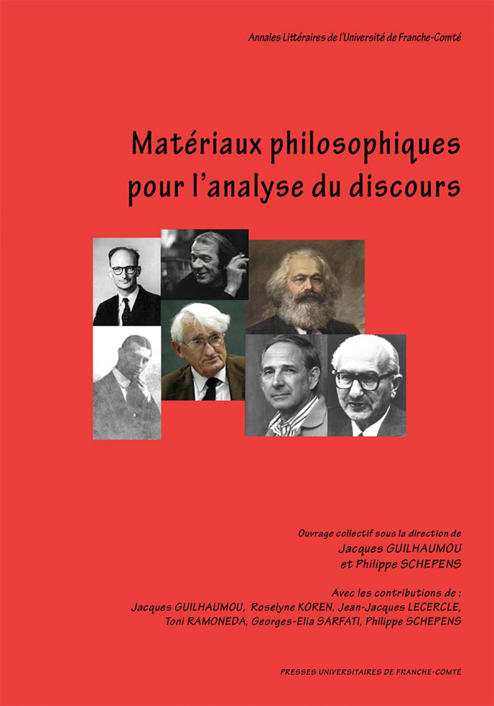 Matériaux philosophiques pour l'analyse du discours