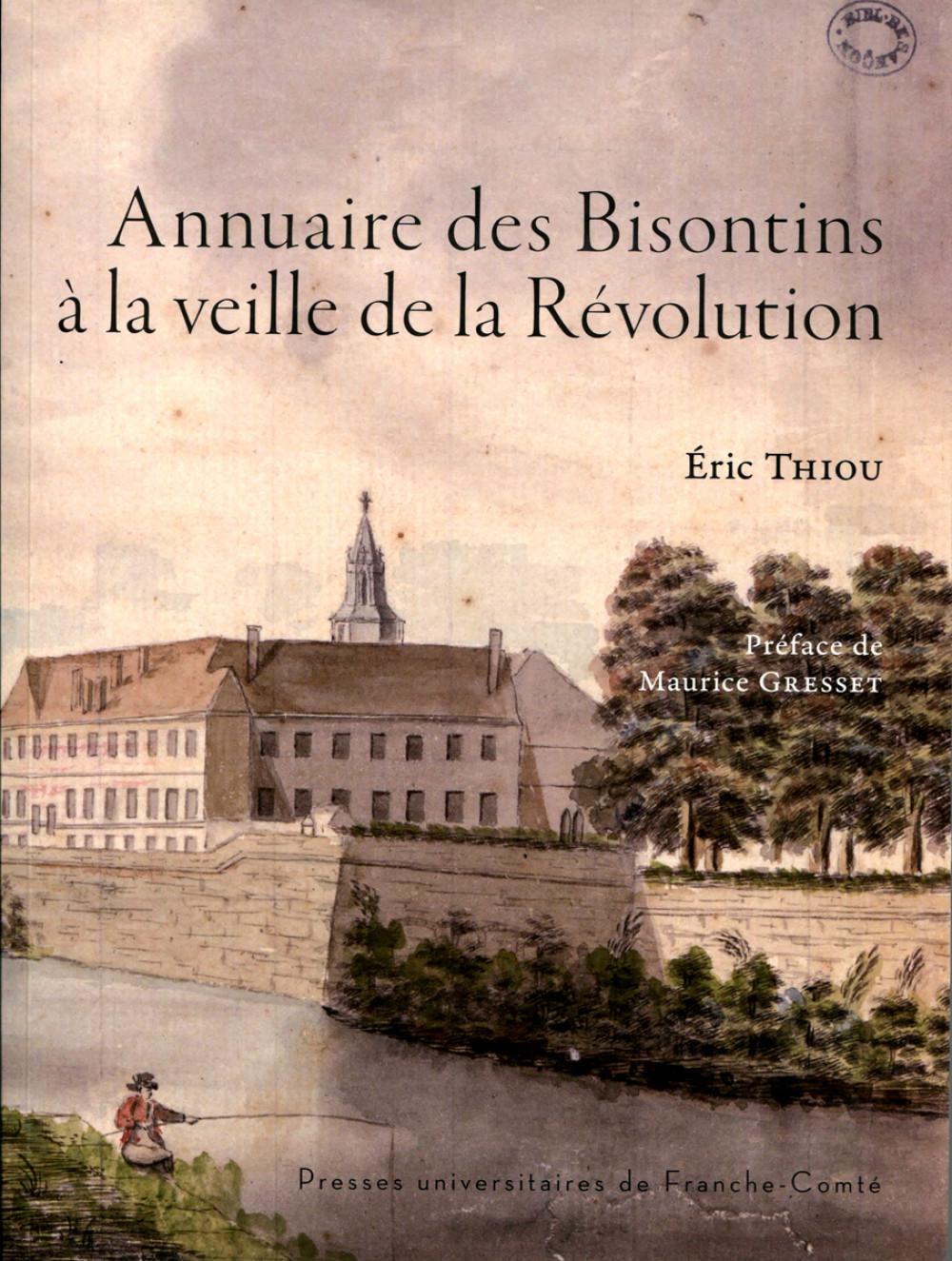 Annuaire des Bisontins à la veille de la Révolution