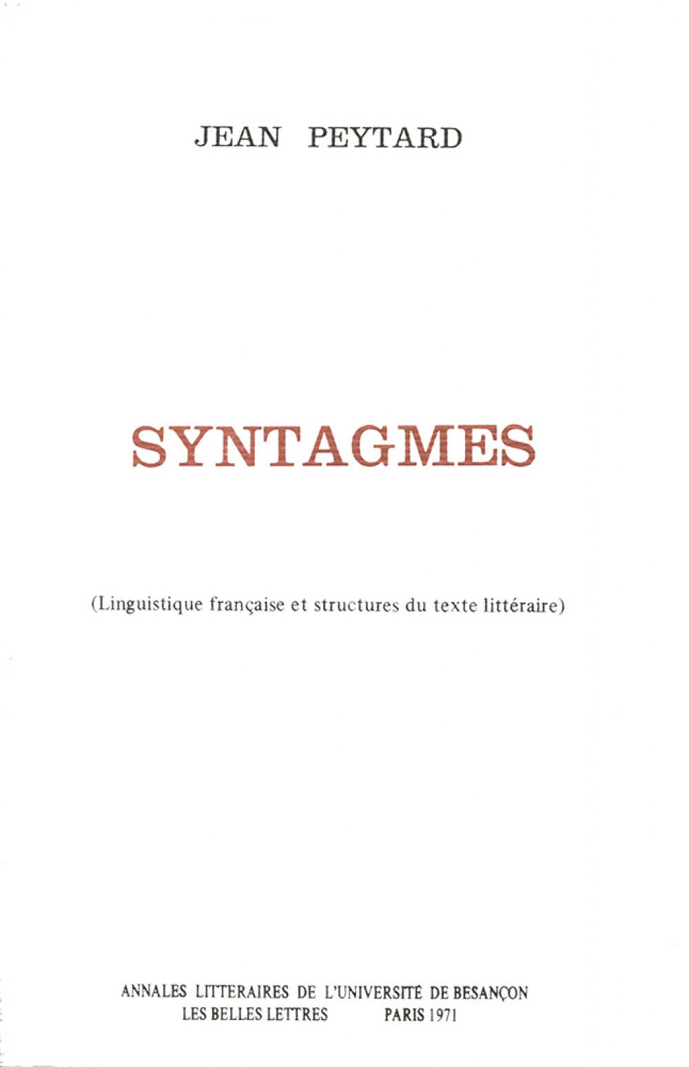 Syntagmes 1