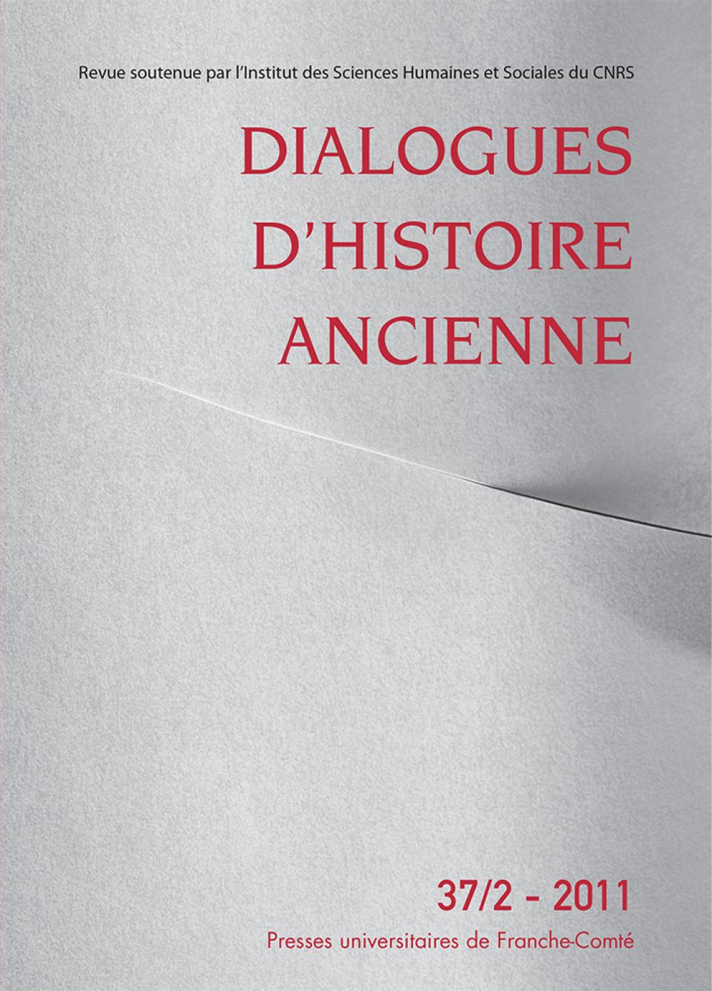 Dialogues d'Histoire Ancienne 37/2