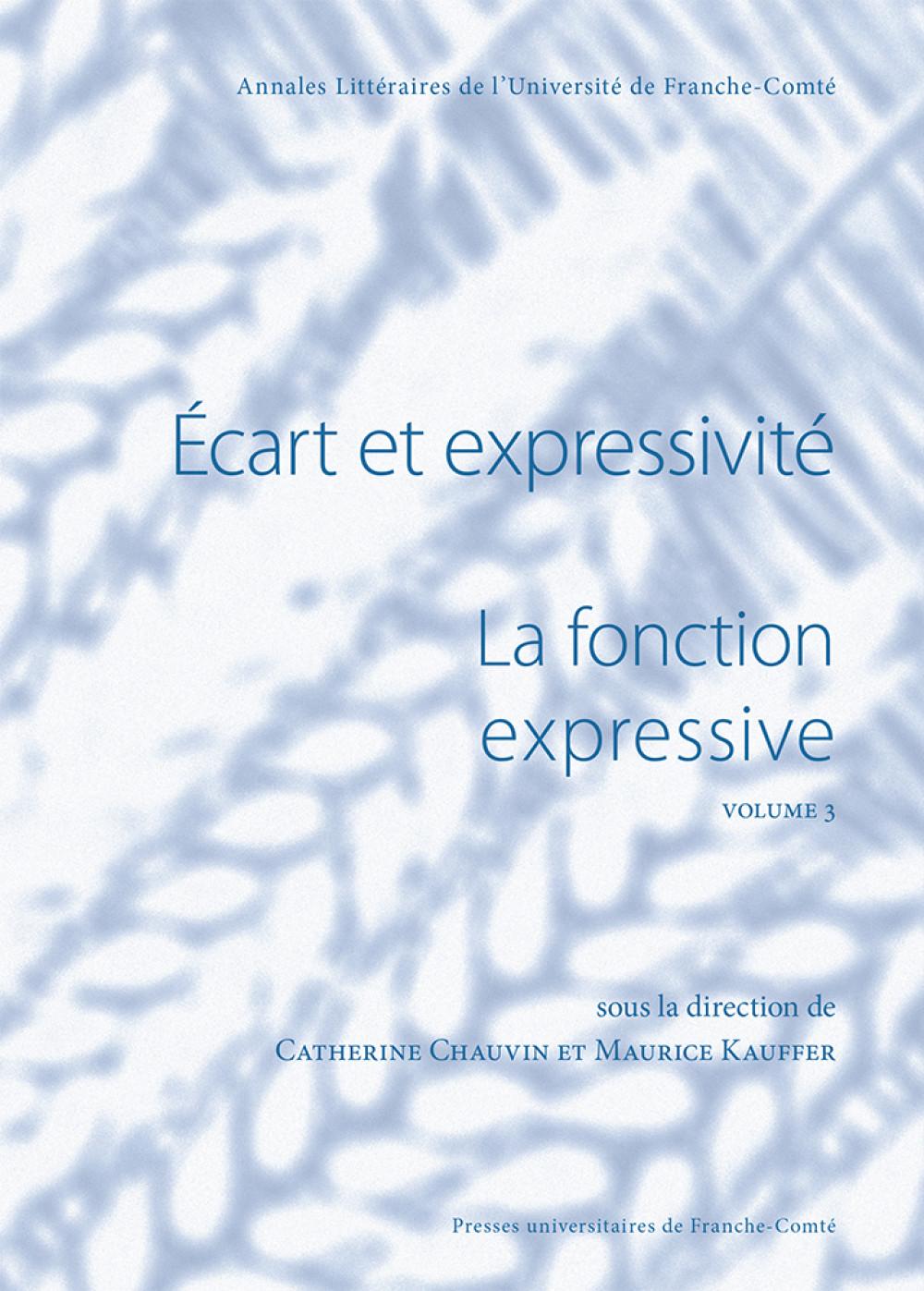 La fonction expressive volume 3