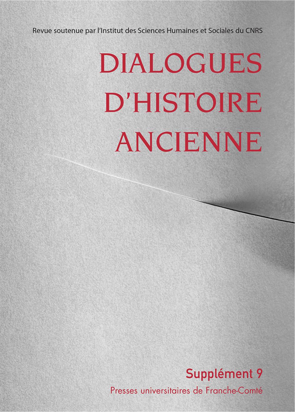 Dialogues d'Histoire Ancienne supplément 9