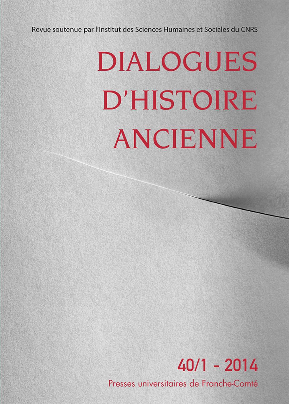 Dialogues d'Histoire Ancienne 40/1