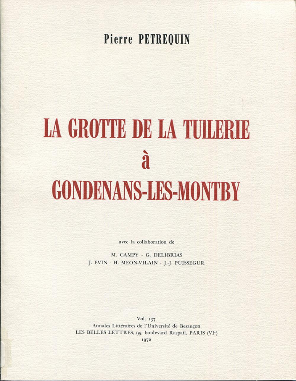 La grotte de la tuilerie à Gondenans-les-Montby