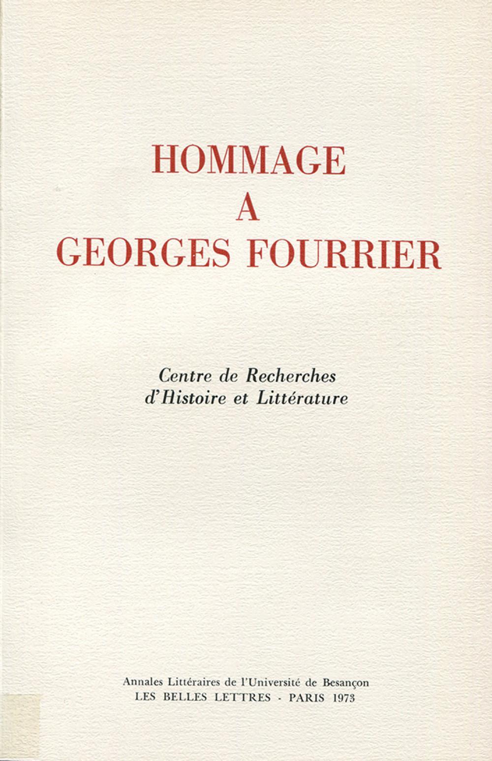Hommage à Georges Fourrier