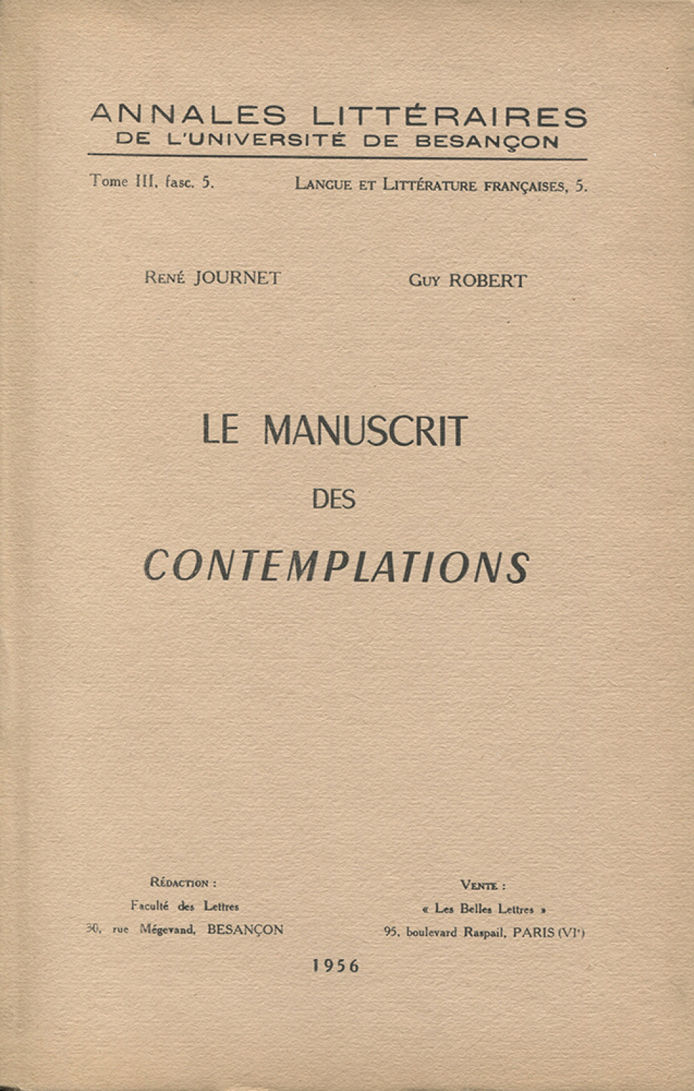 Le manuscrit des Contemplations