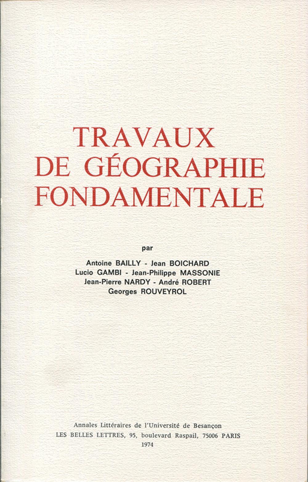 Travaux de géographie fondamentale