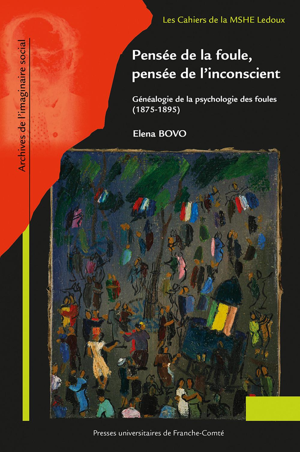 couverture Pensée de la foule, pensée de l'inconscient d'Elena BOVO
