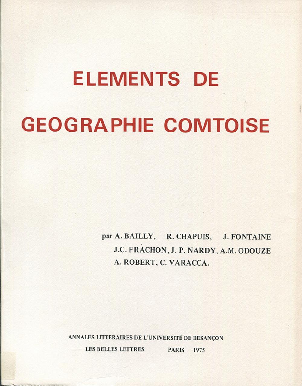 Eléments de géographie comtoise