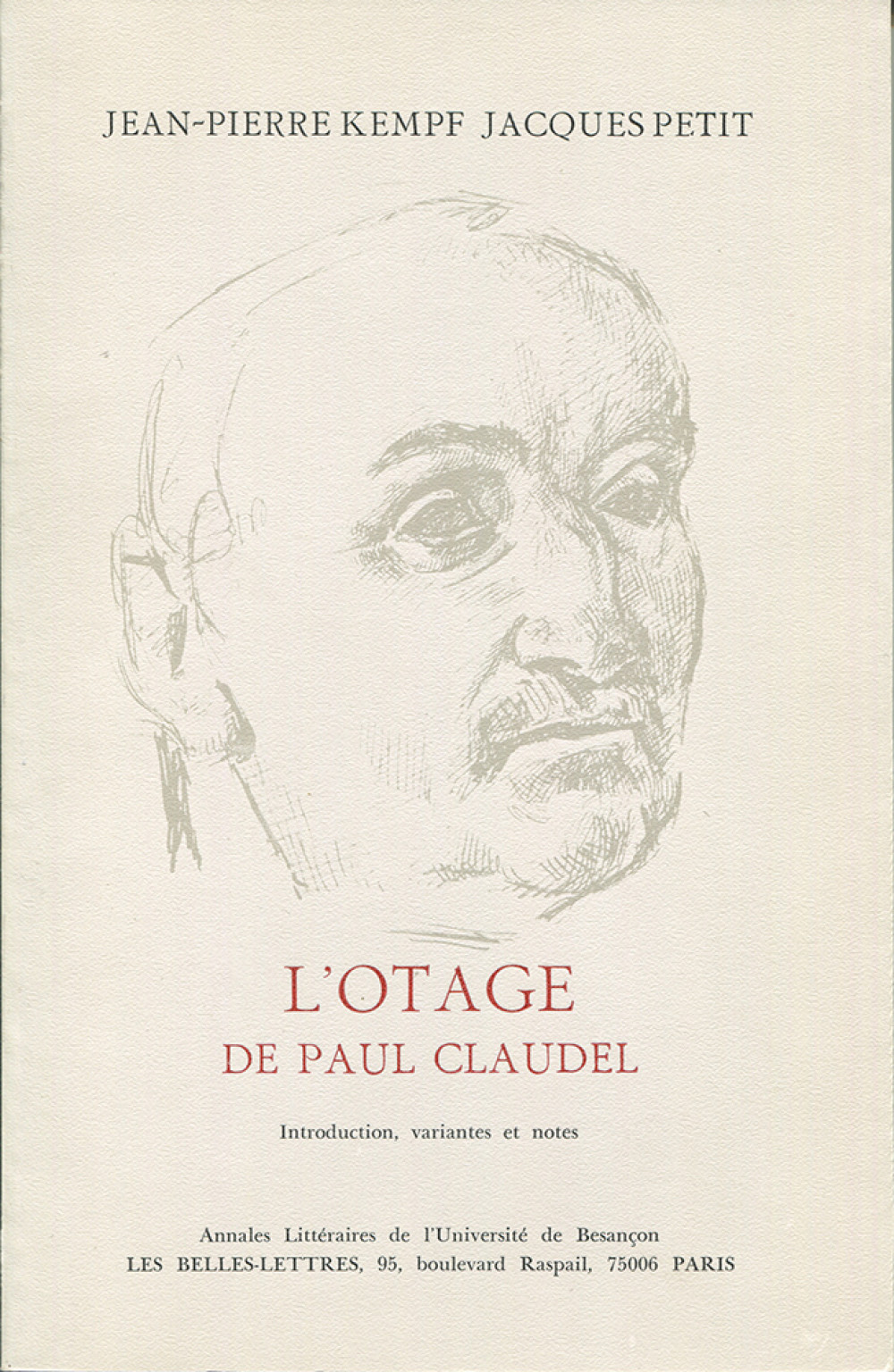 L'otage de Paul Claudel