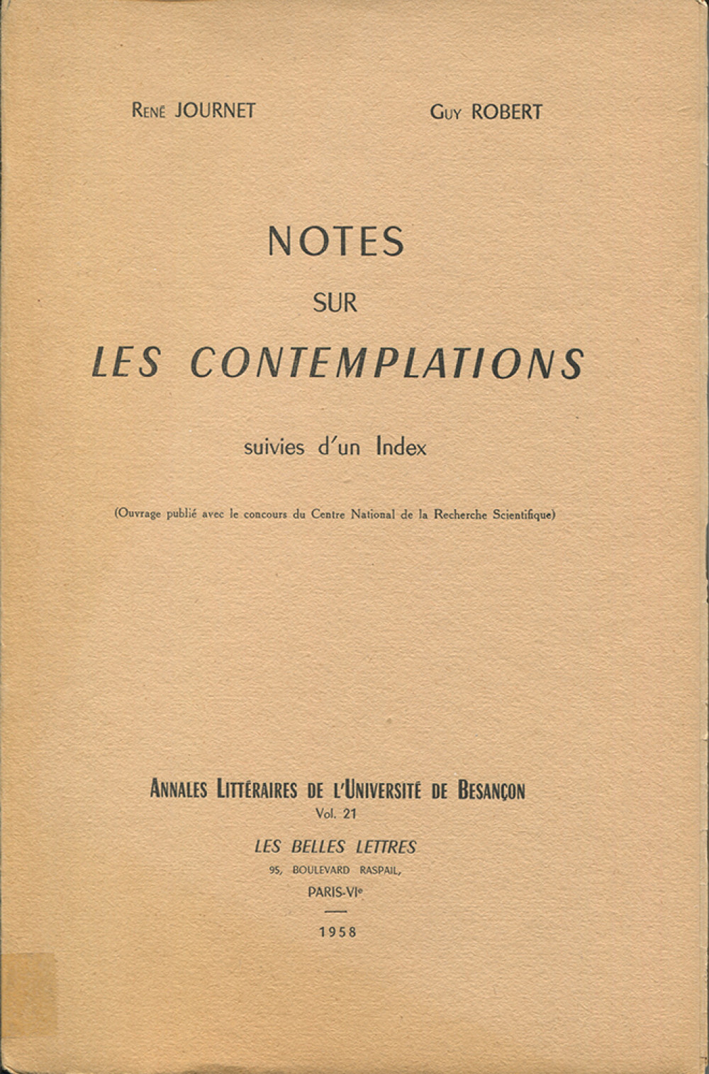 Notes sur les contemplations