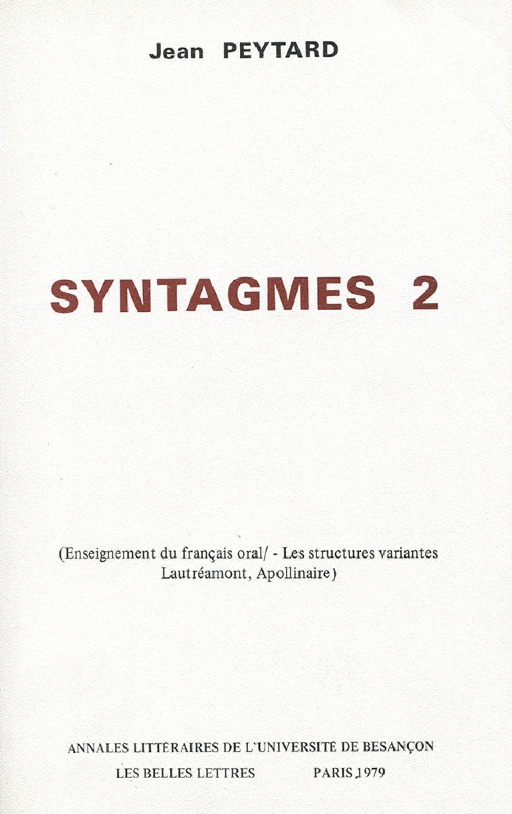 Syntagmes 2