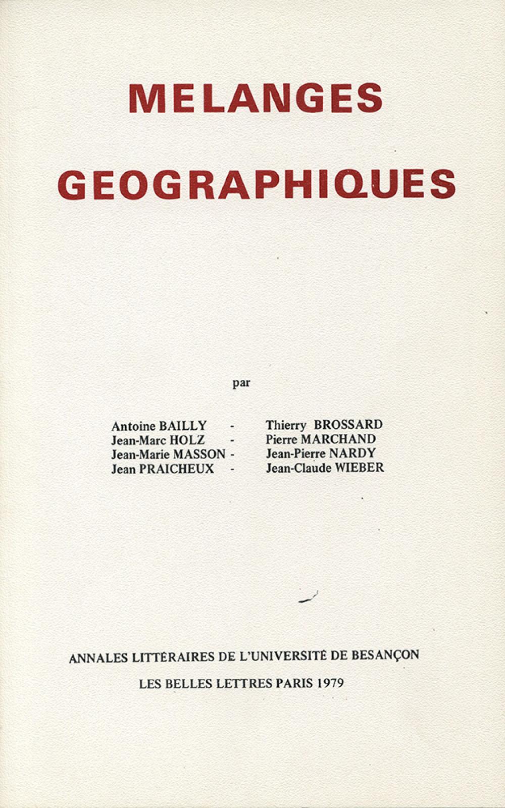 Mélanges géographiques