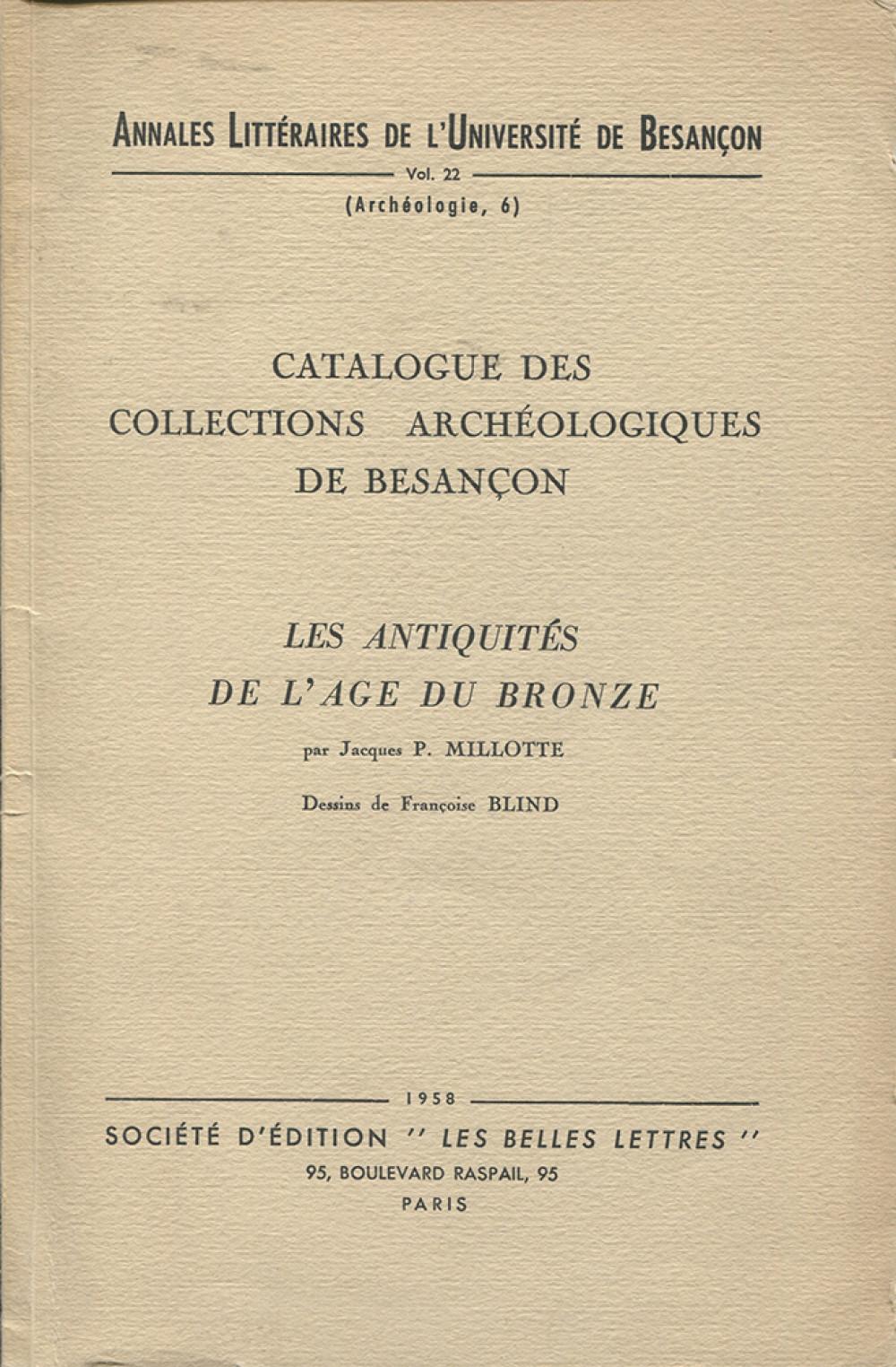 Catalogue des collections archéologiques de Besançon III