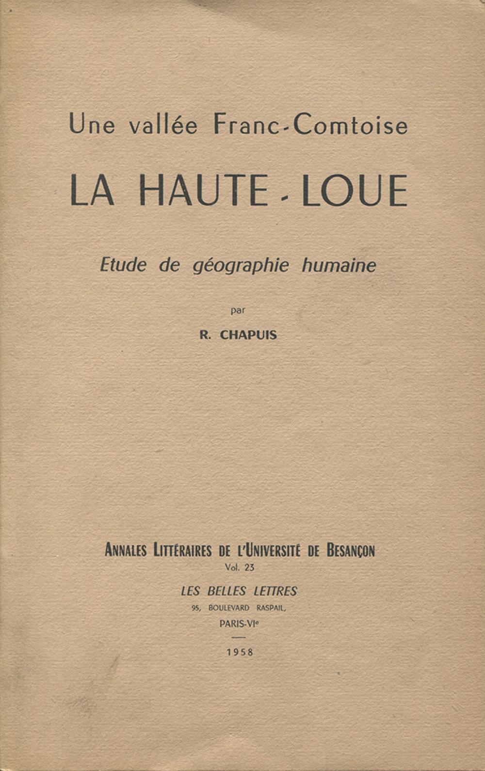 Une vallée franc-comtoise : la Haute-Loue