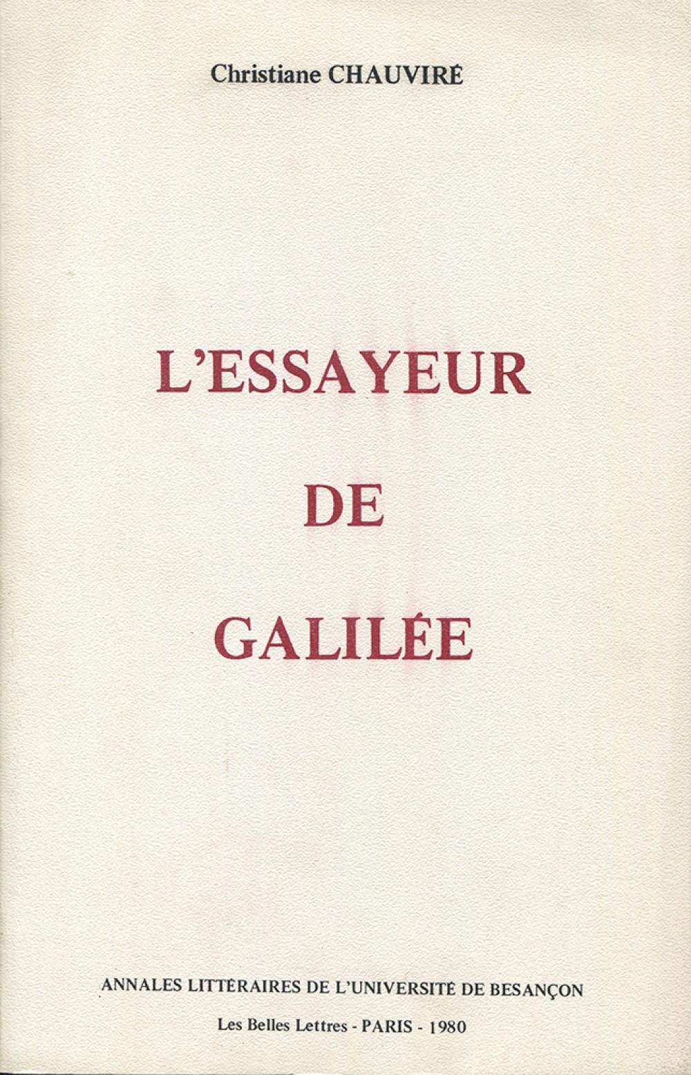 L'essayeur de Galilée