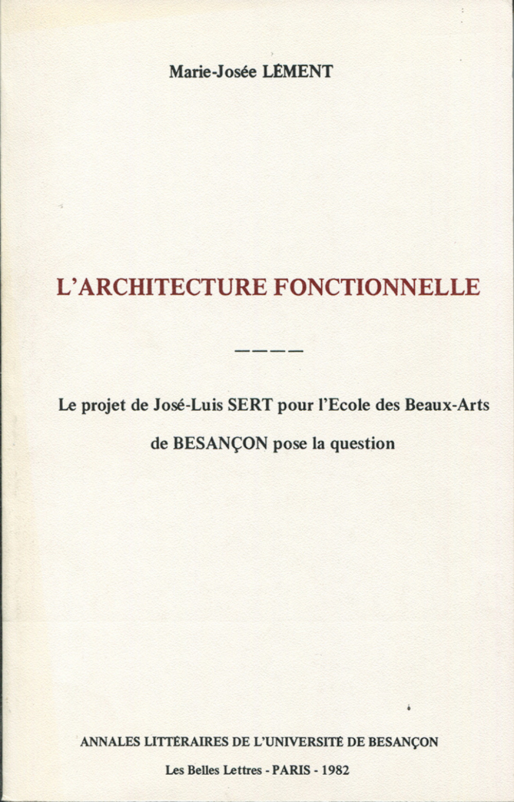 L'architecture fonctionnelle