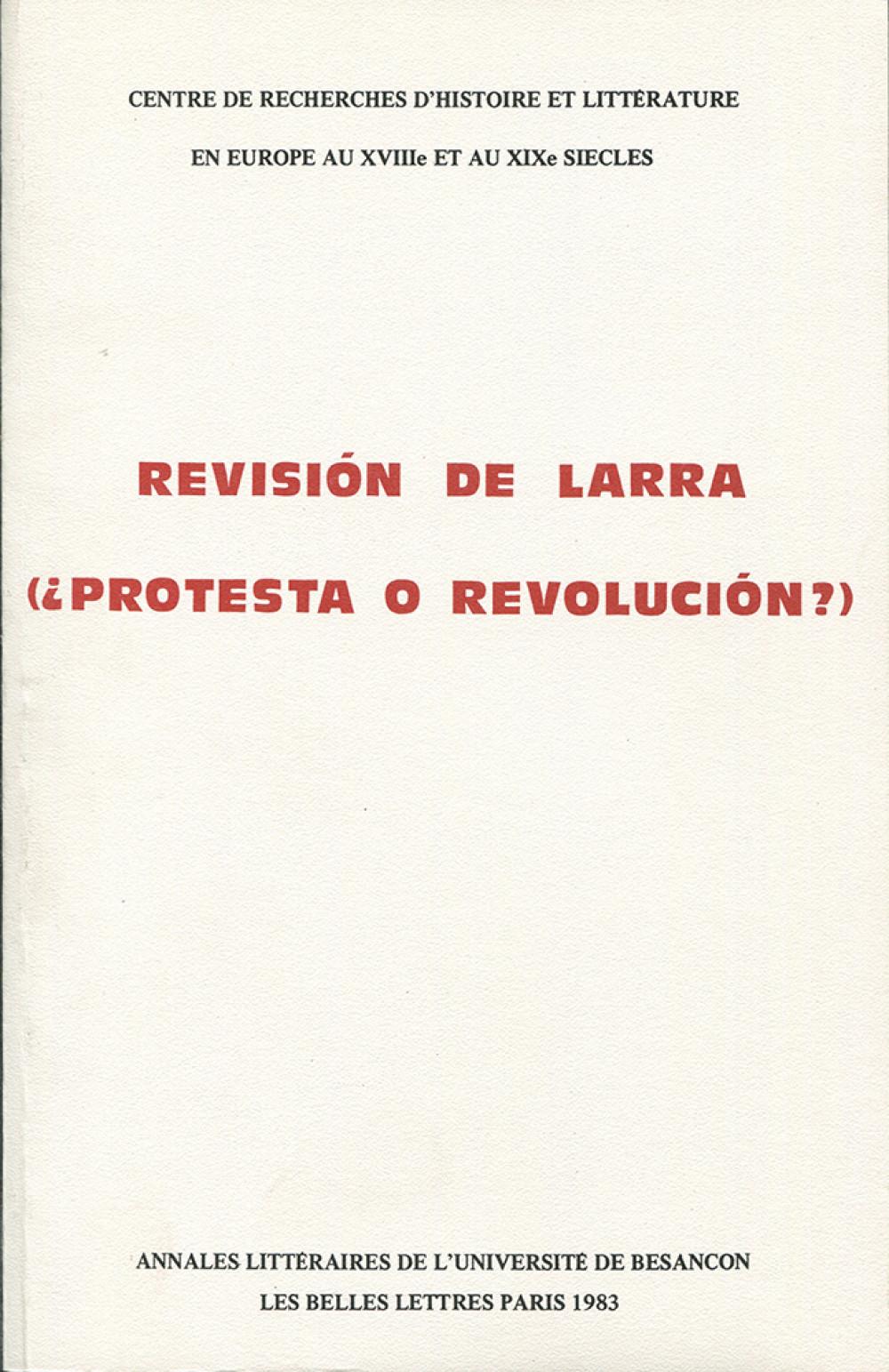 Révision de Larra