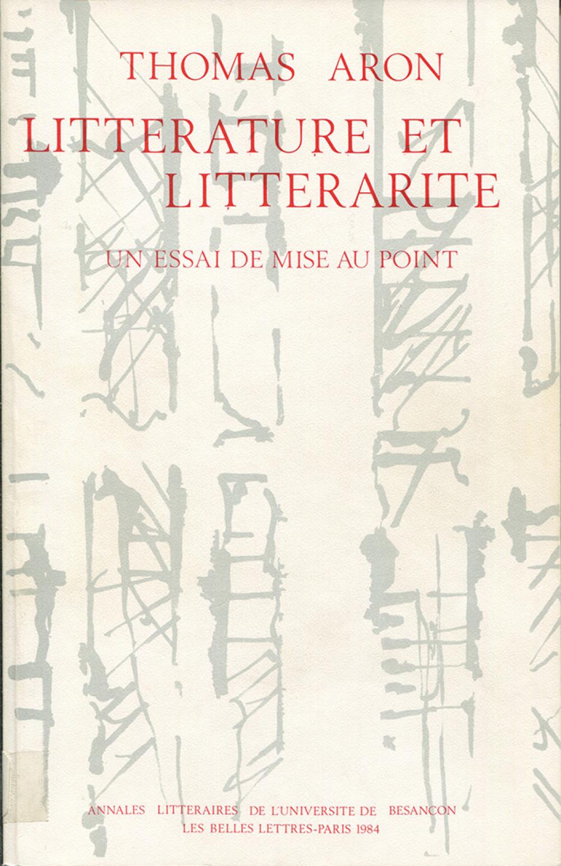 Littérature et littérarité