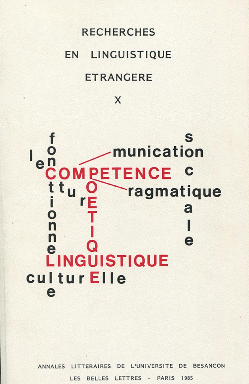 Recherches en linguistique étrangère X