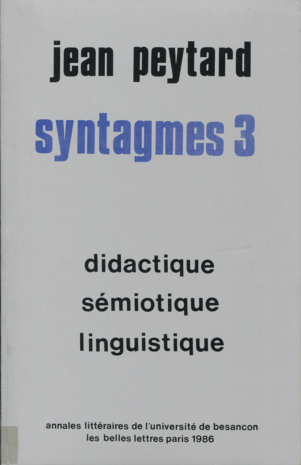 Syntagmes 3