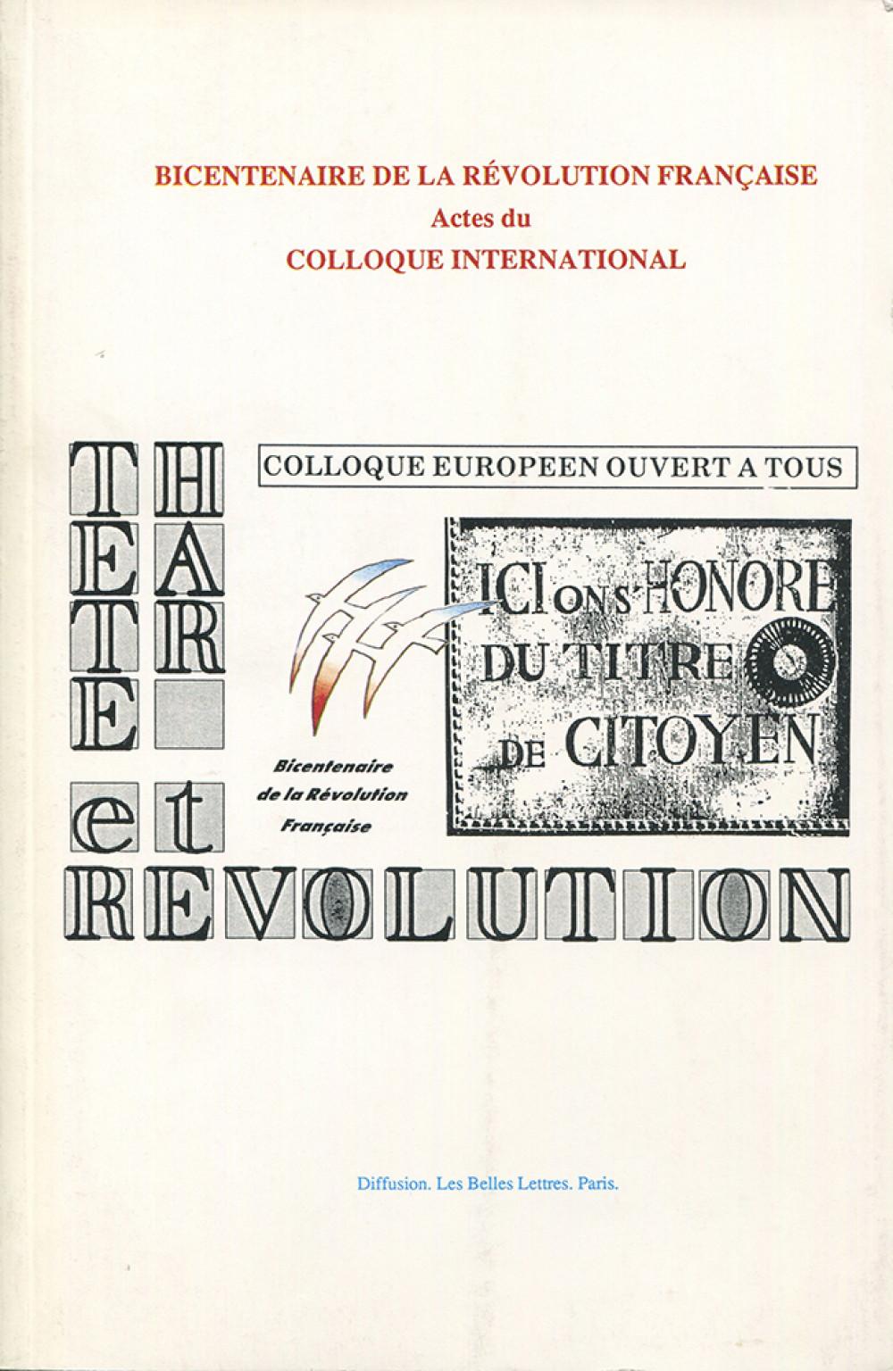 Théâtre et révolution