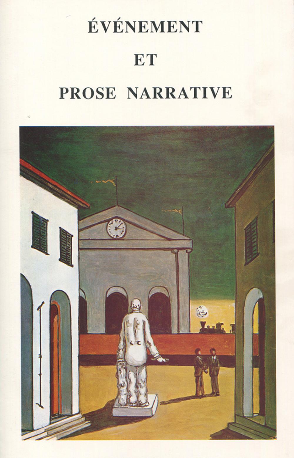 Evénement et prose narrative
