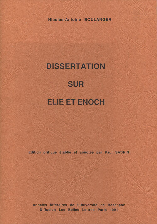 Dissertation sur Elie et Enoch de N.-A. Boulanger
