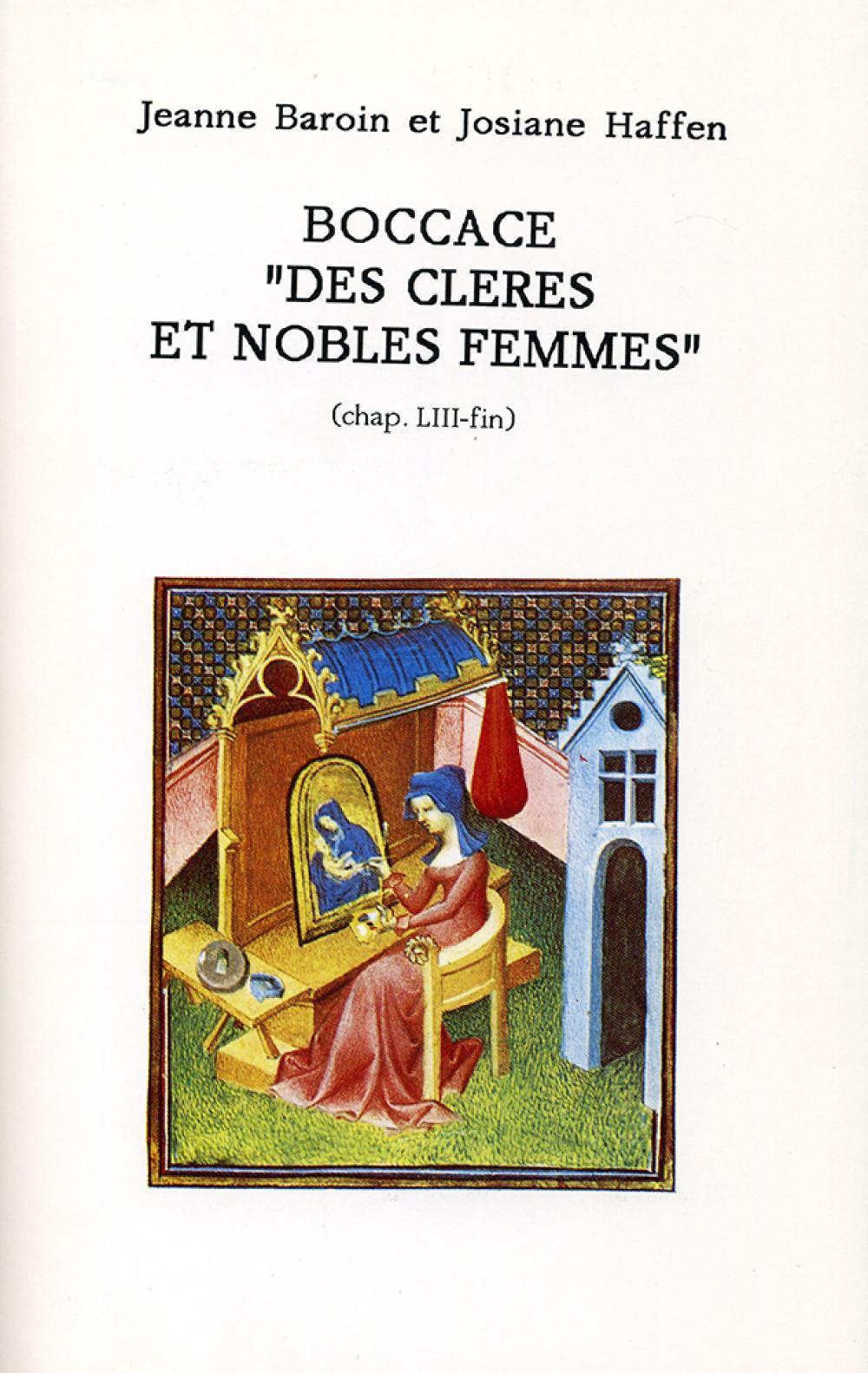 """Boccace """"Des cleres et nobles femmes"""" (chap.LIII-fin)"""
