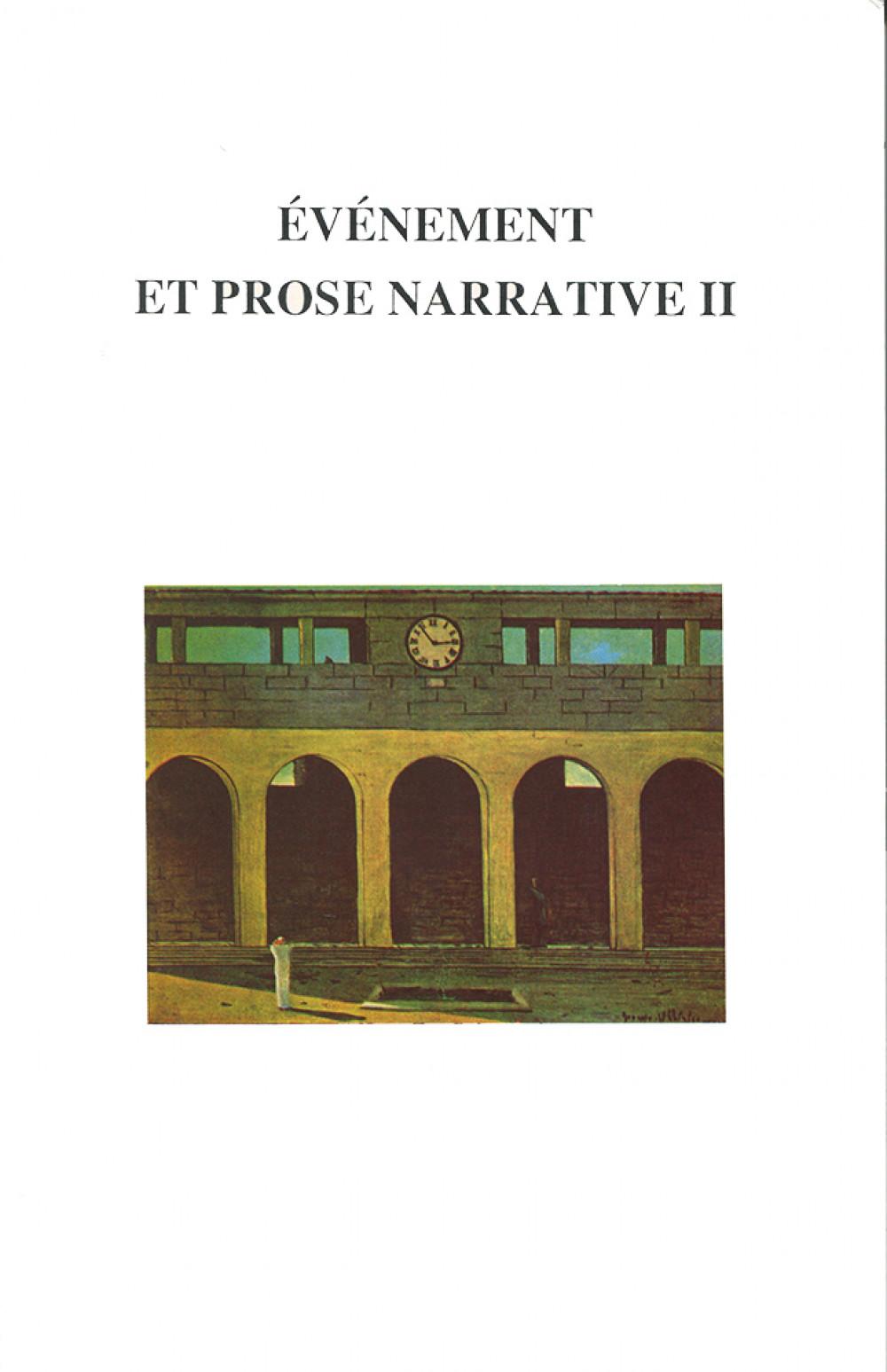 Événement et prose narrative II
