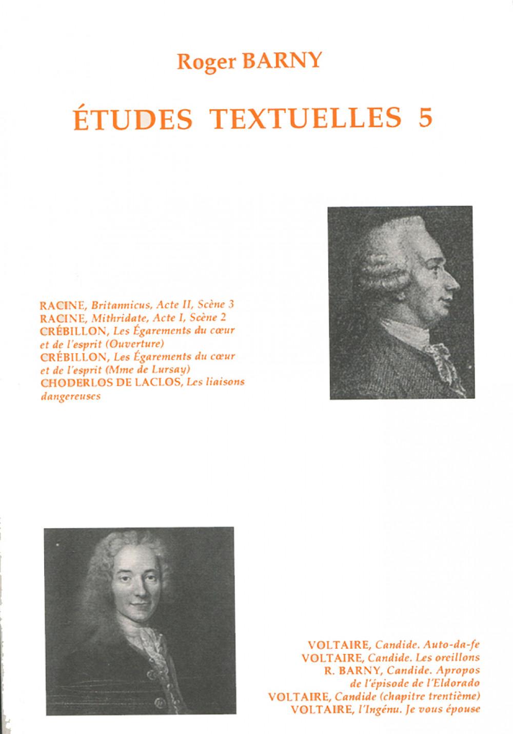 Etudes textuelles 5