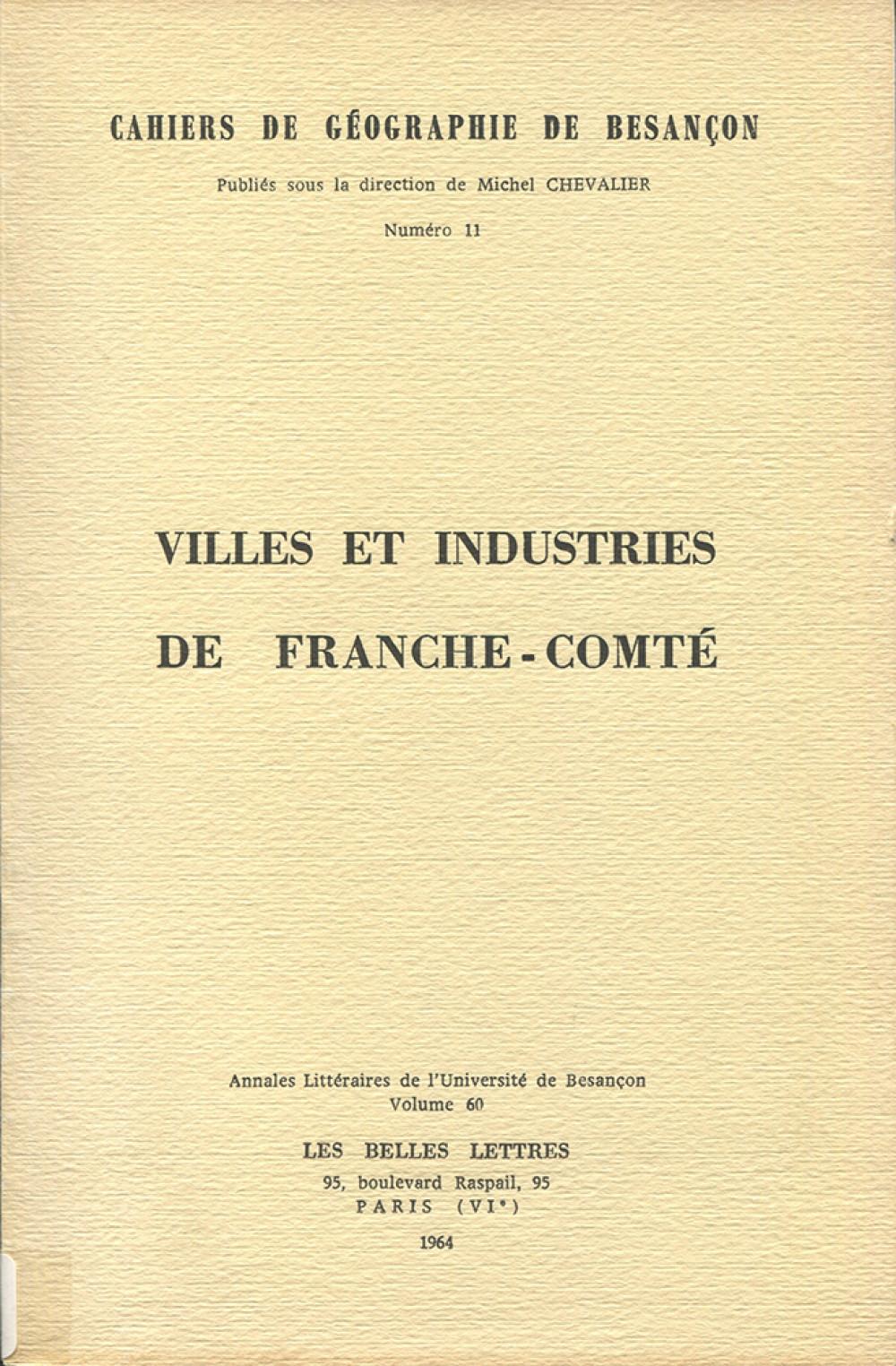 Villes et industries de Franche-Comté