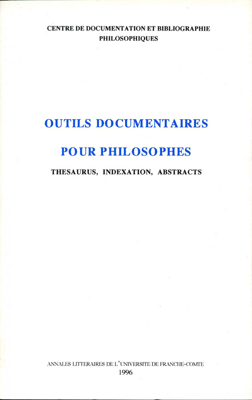 Outils documentaires pour philosophes