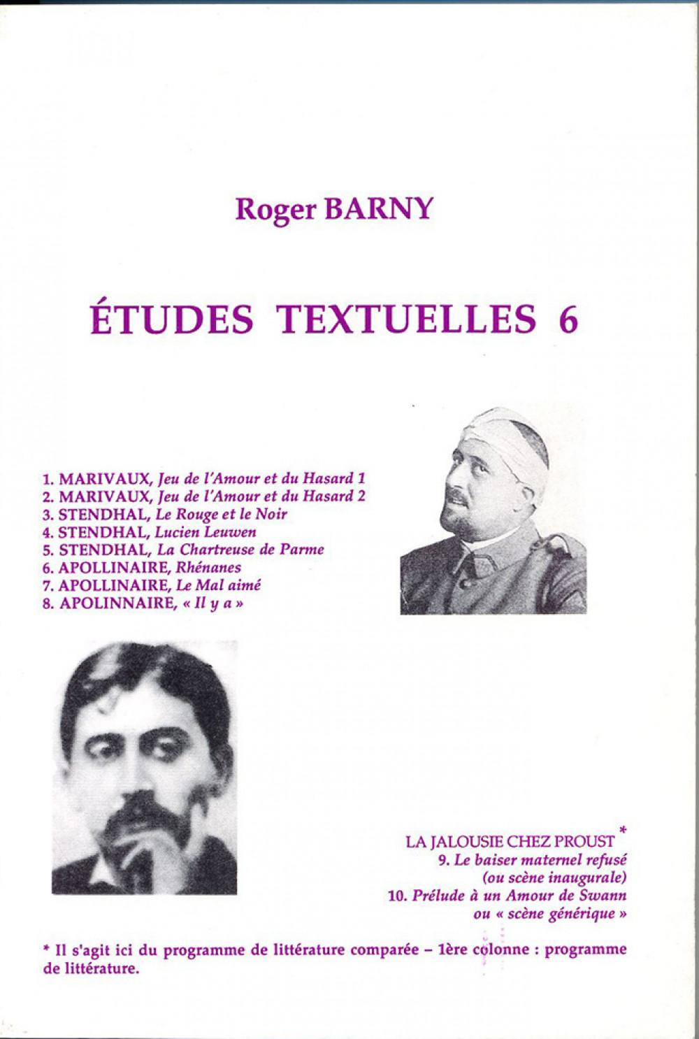 Etudes textuelles 6