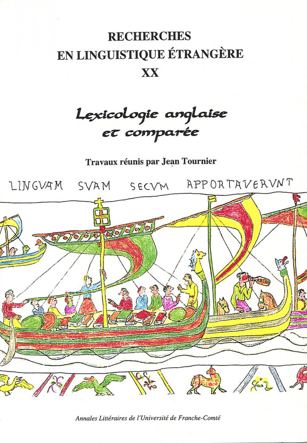 Lexicologie anglaise et comparée