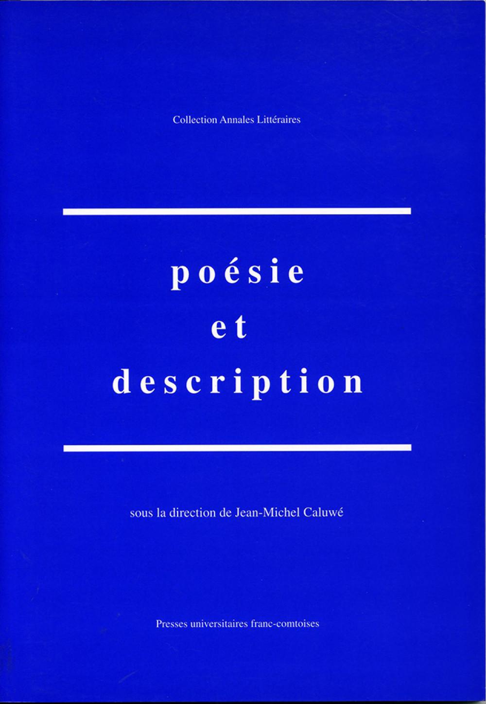 Poésie et description