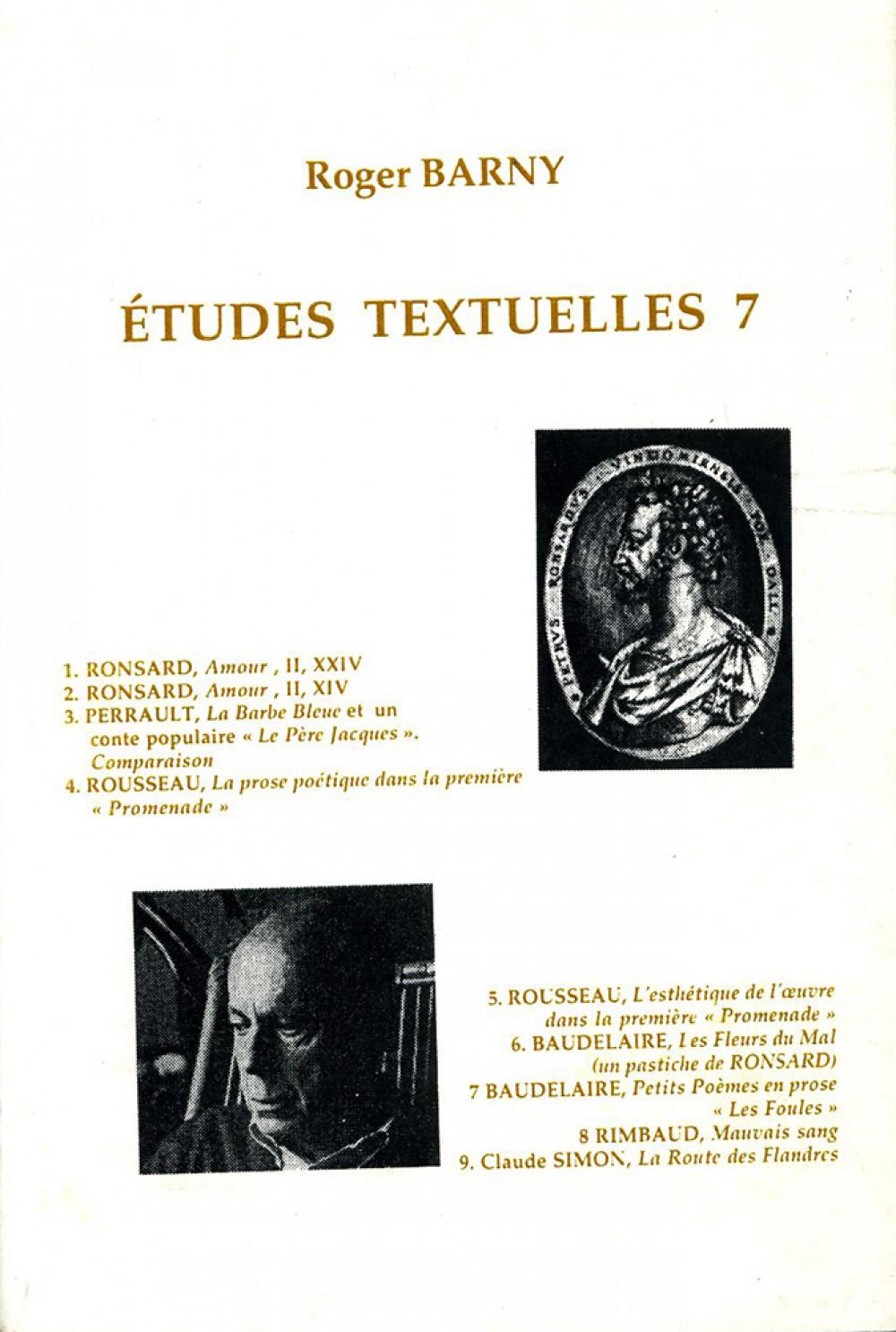 Etudes textuelles 7