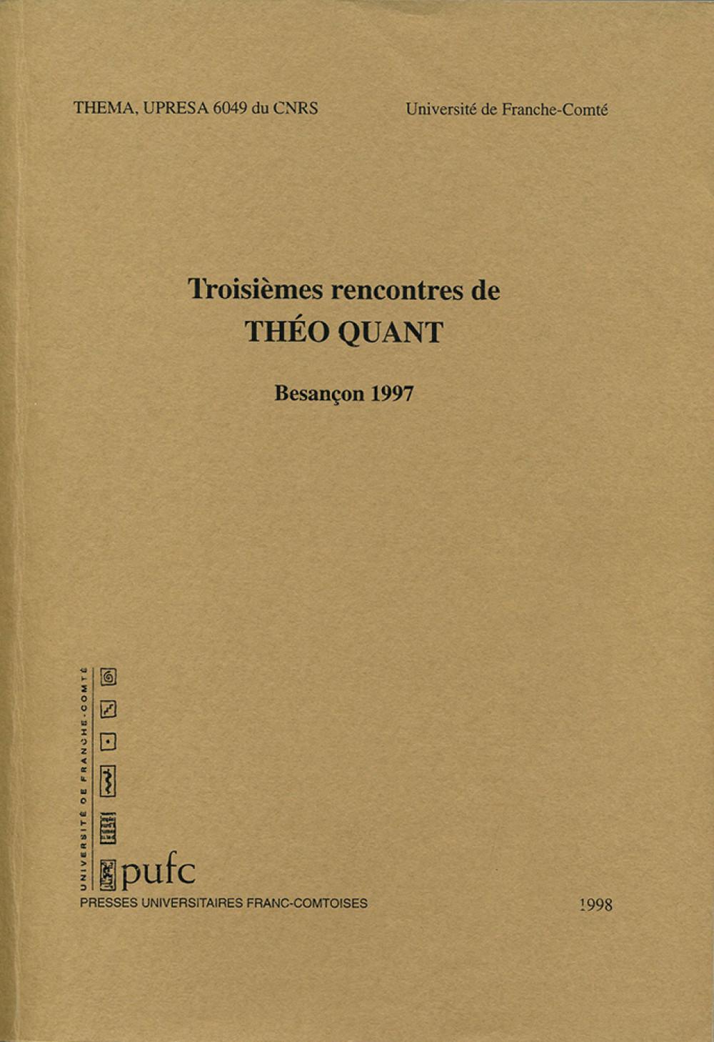 Troisièmes rencontres de Théo Quant, 1997