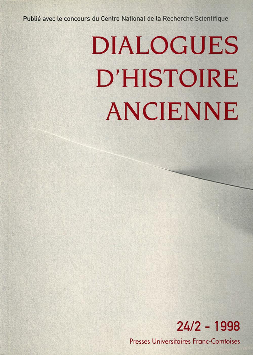 Dialogues d'Histoire Ancienne 24/2
