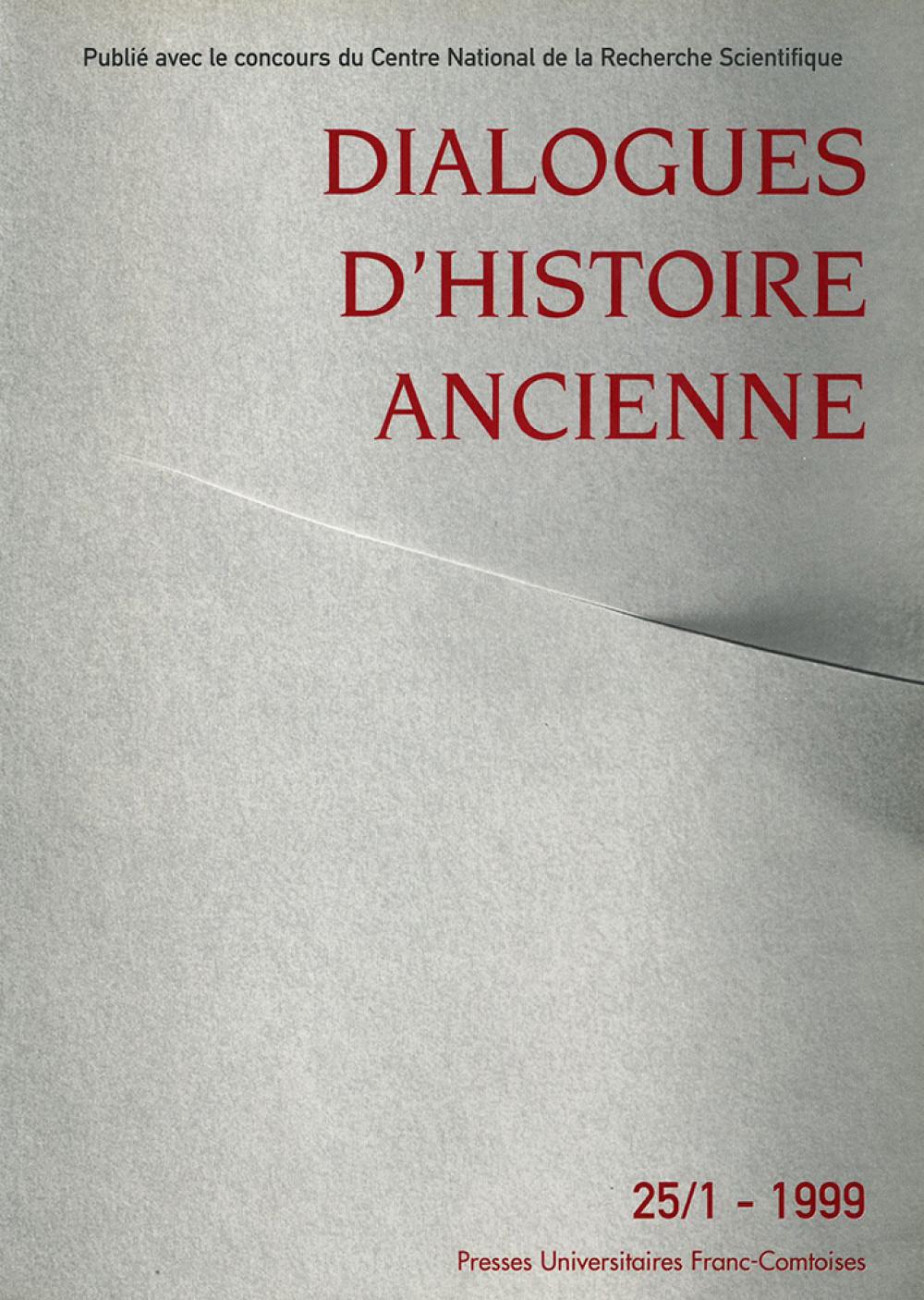 Dialogues d'Histoire Ancienne 25/1