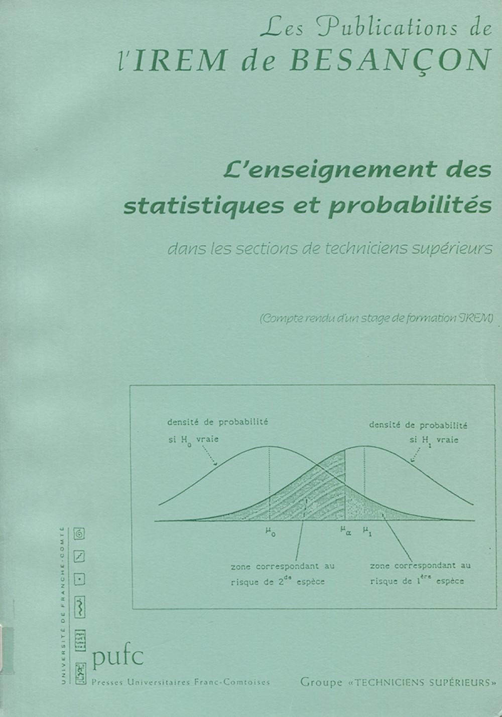 L'enseignement des statistiques et des probabilités
