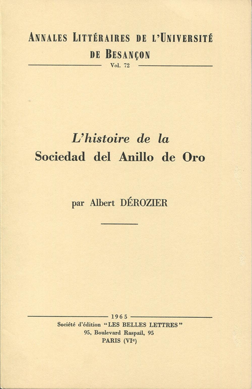L'histoire de la Sociedad del anillo de oro pendant le triumvirat constitutionnel