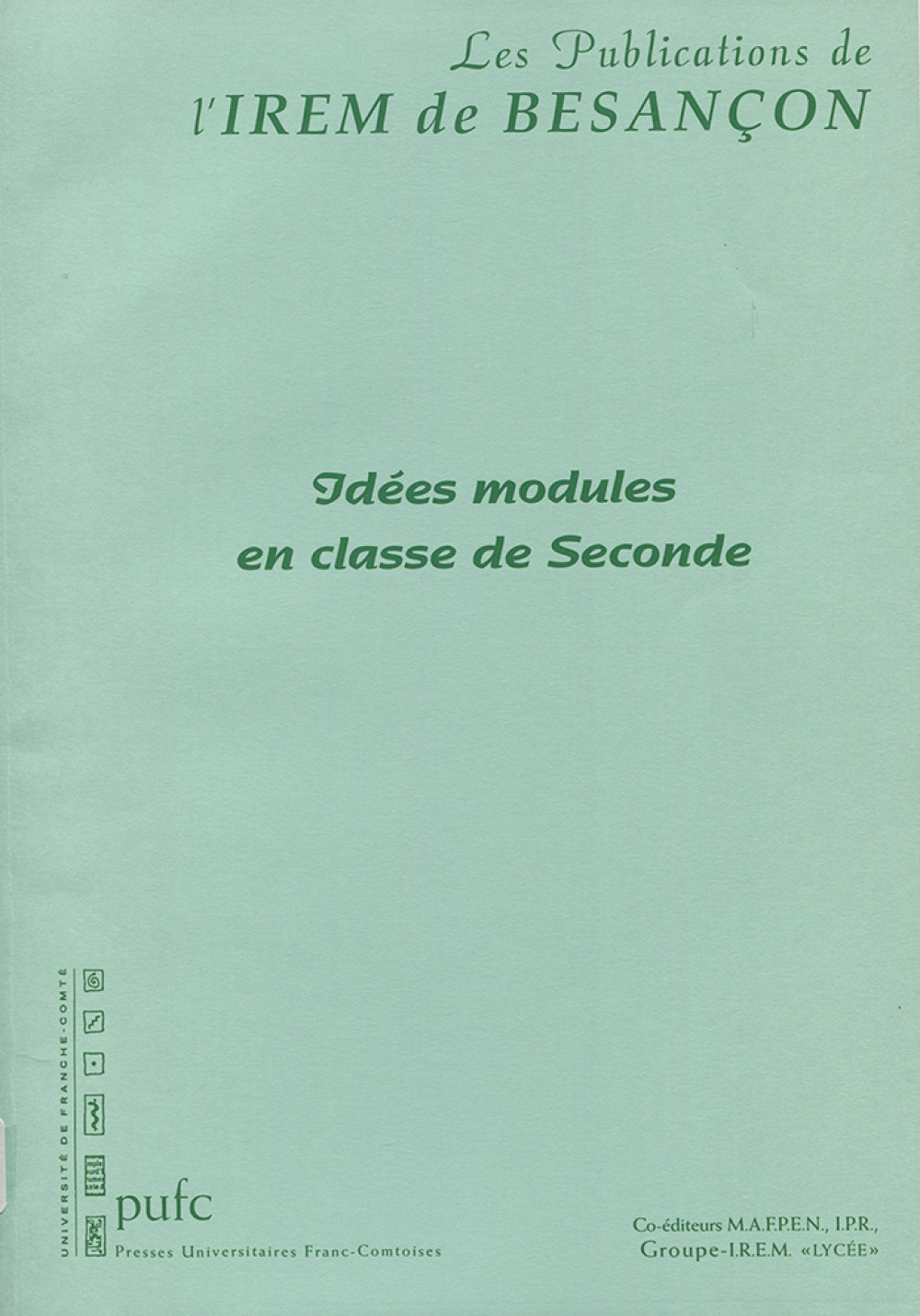 Idées modules en classe de Seconde