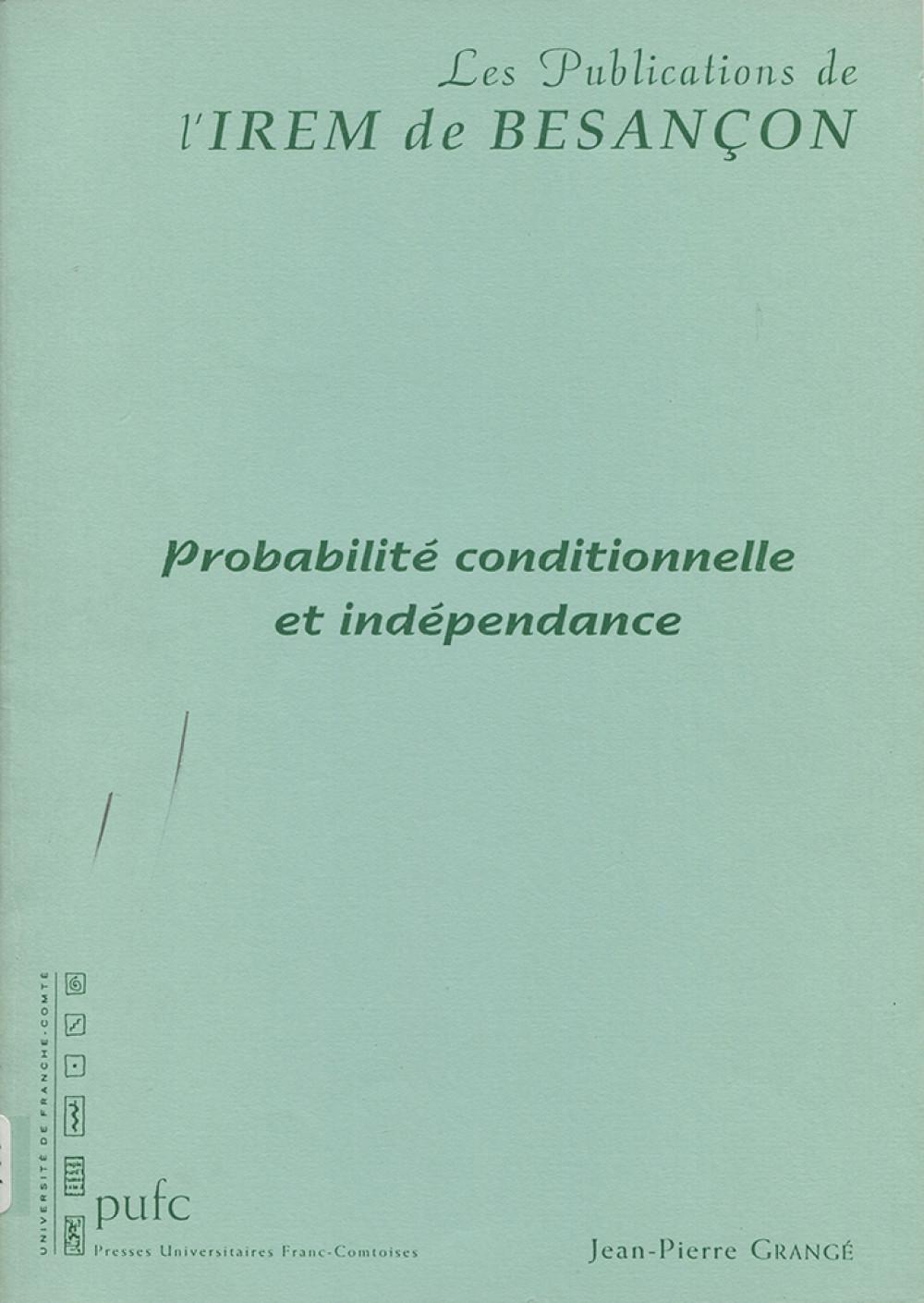 Probabilité conditionnelle et indépendance