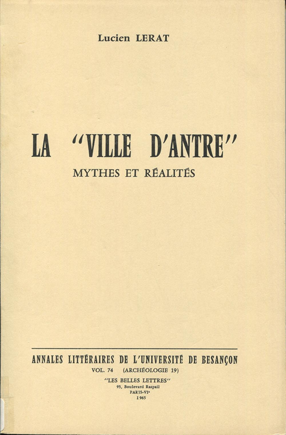 """La """"ville d'Antre"""""""