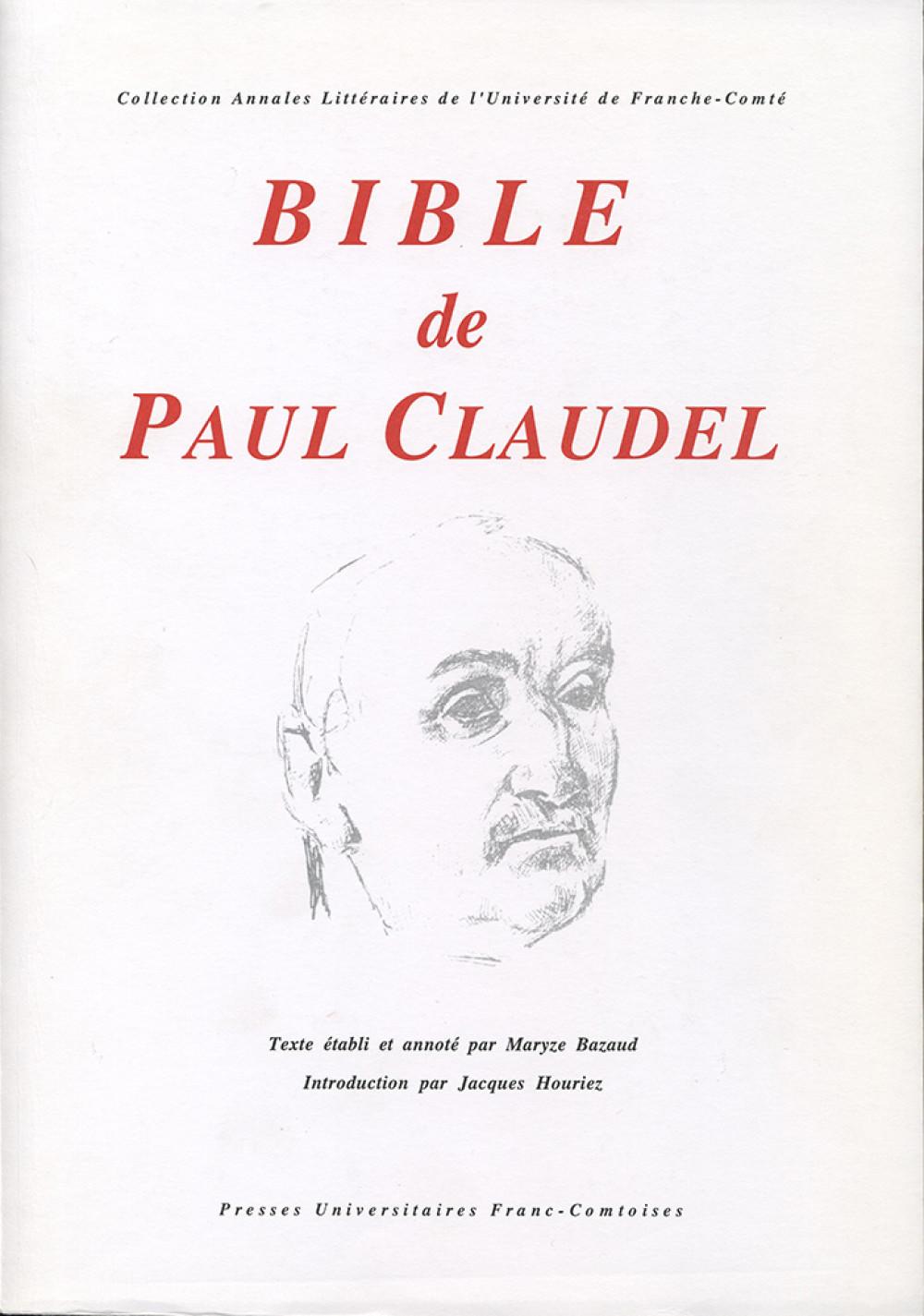 Bible de Paul Claudel
